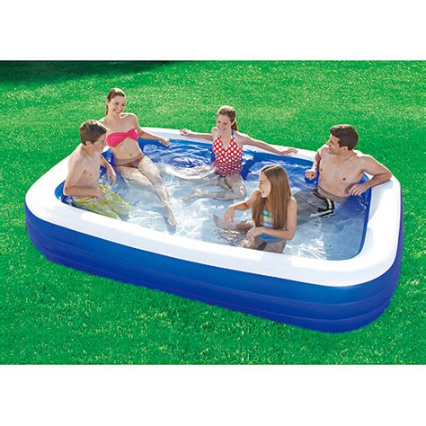 backyard blow up pools 10 x 6 inflatable family swimming pool walmart com