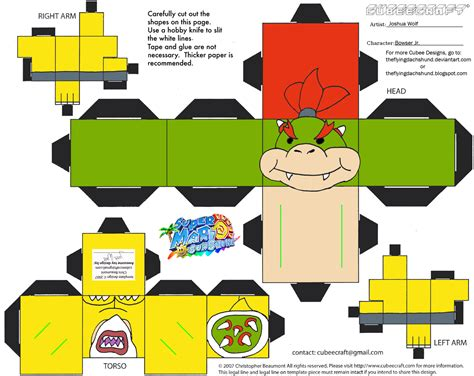 Bowser Papercraft - vg15 bowser jr cubee by theflyingdachshund on deviantart