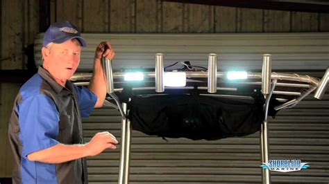 boat docking lights install how to install overhead led dock lights youtube