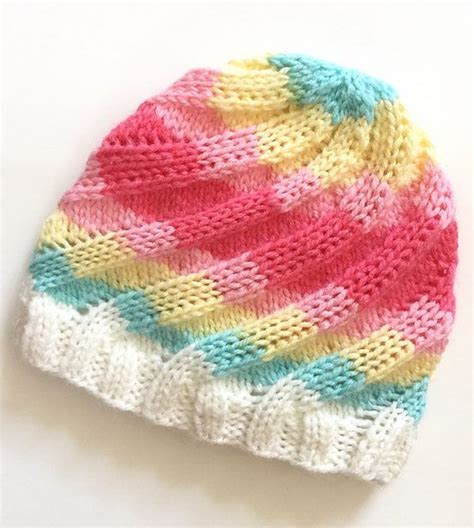 knit swirl free knitting pattern for swirl hat ribbed beanie knit