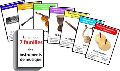 les instruments de musique de la famille des cuivres jeu des sept familles des instruments de musique 7