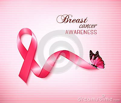 background  pink breast cancer ribbon  butterfly