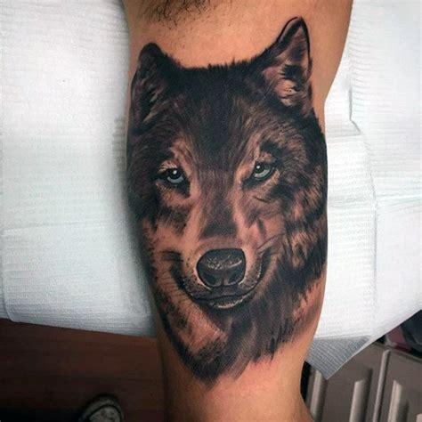 realistic wolf tattoo 100 inner bicep designs for manly ink ideas