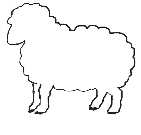 preschool coloring page sheep printable sheep template jos gandos coloring pages for