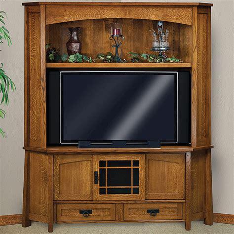 amish mission style corner tv media stand mariposa