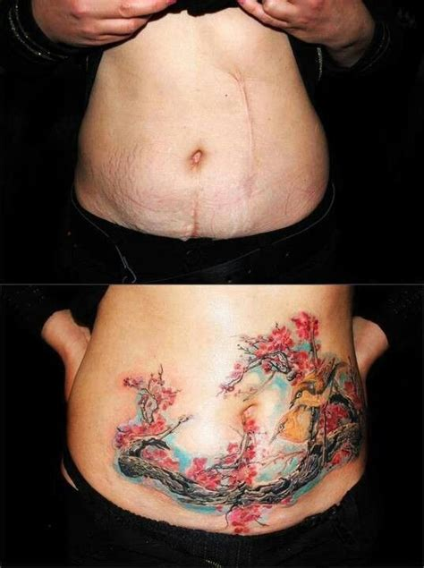 fat above c section scar tatuajes para cubrir cicatrices tatuajes para mujeres