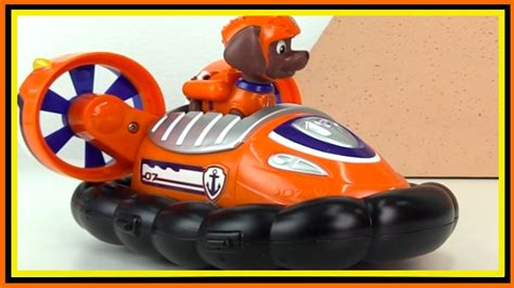 paw patrol orange boat paw patrol games toys zuma hovercraft unboxing demo
