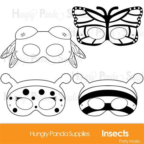 printable bumble bee mask template insects printable coloring masks insect masks ladybug