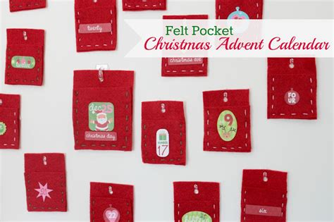 how to make a pocket calendar felt pocket advent calendar tutorial sew