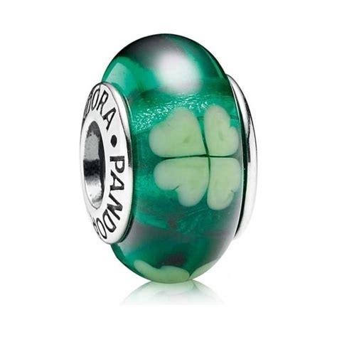 pandora green clover murano glass charm 790927 pandora from gift and wrap uk