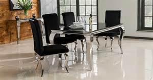 Wilkinson furniture louis 160cm dining table in black furniture123