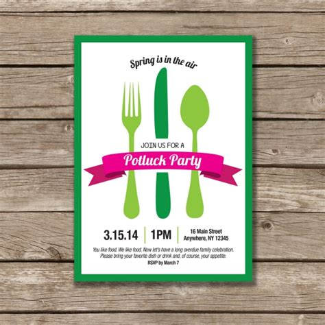 potluck invitation template free printable potluck invitation template free printable custom