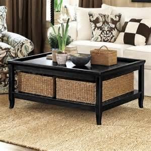 Coffee Table With Basket Storage Underneath Wicker Baskets Underneath For Storage Home Ideas