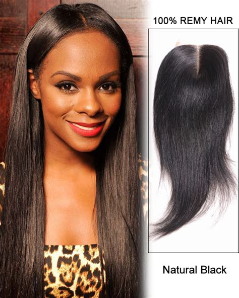 how to do a middle part closure hair style 16 middle part lace closure natural black straight virgin