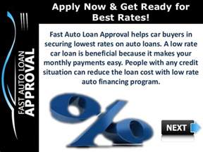 Best Auto Loan Rates For Low Interest Rate Car Loans How Can Fast Auto Loan