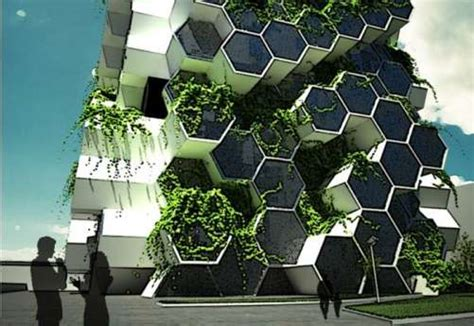 Eco House Design honeycomb agricultural architecture london tower farm