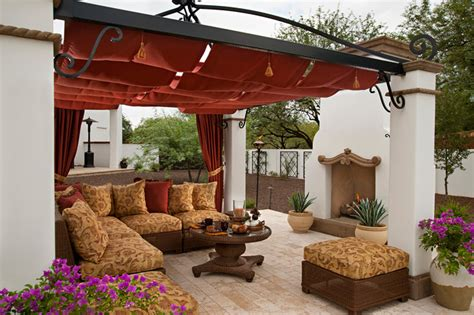 Spanish Home Decorating Ideas spanish colonial remodel mediterranean patio phoenix