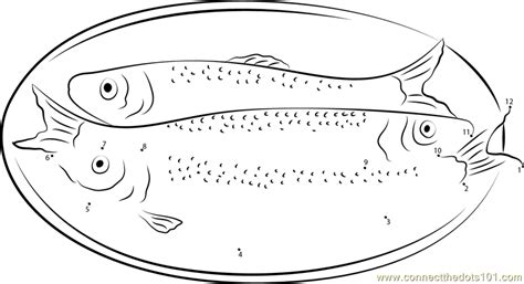 herring fish coloring page atlantic herring dot to dot printable worksheet connect