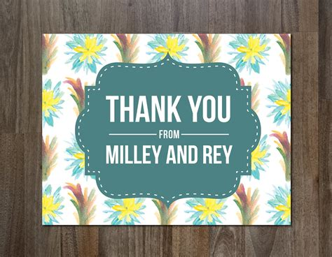 Electronic Thank You Card Template