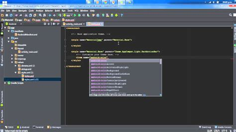 android studio todo tutorial android studio tutorial 1 37 personalizando estilo