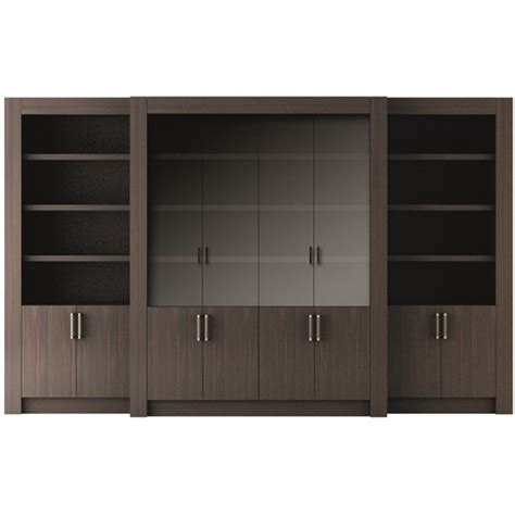 Walnut Bookcase With Glass Doors Touched D Canaletto Walnut With Glass Doors Bookcase