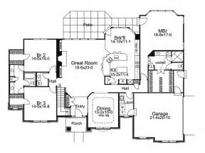 floor plans for single story homes le chateau one story home plan 007d 0117 house plans and