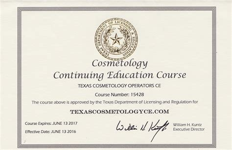 Cosmetology Requirements cosmetology renewal education cosmetology renewal education