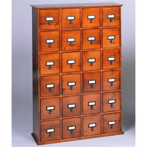 Cd Storage Cabinet Leslie Dame 24 Drawer Cd Media Storage Cabinet Walnut Ebay