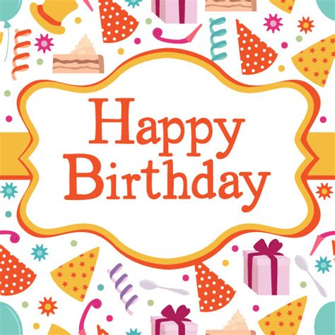 happy birthday card design vector illustration birthday card vector material download free vectors