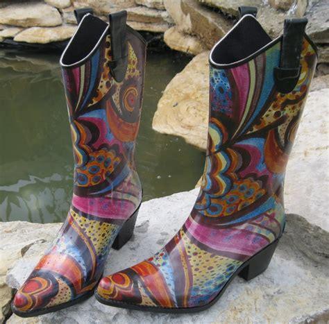 womens western cowboy multi swirl pattern boots 13