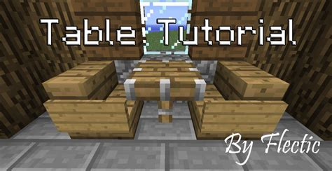 How Do You Make A Desk In Minecraft by Tutorial How To Make Fancy Tables With World Edit Minecraft