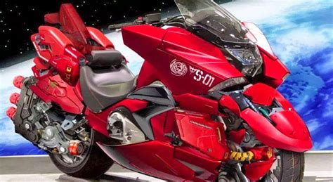 photoshopped honda nm red comet motorbike gundam kits collection news  reviews