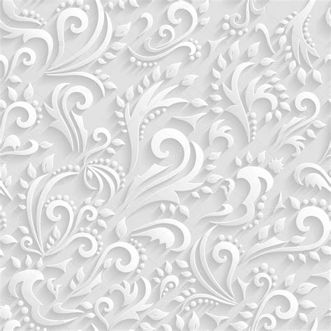 wedding paper vector floral seamless background origami 3d