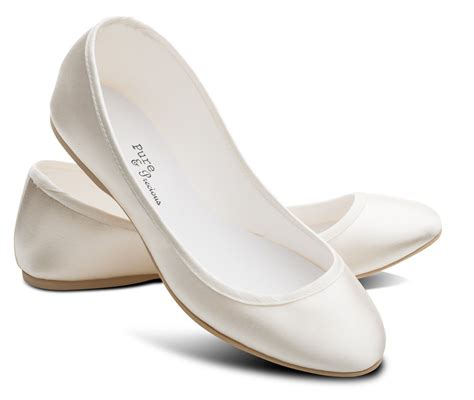 flats shoes ivory bridesmaids flower wedding bridal pumps flats