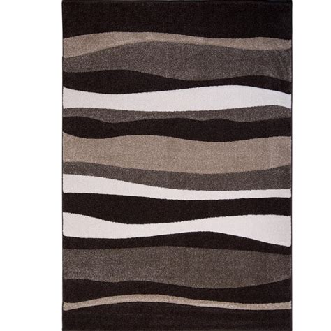 home design 7 x 10 home dynamix bazaar zag dark brown 7 ft 10 in x 10 ft 1