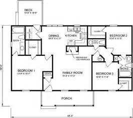 Basic Ranch Floor Plans House Plan 45272 At Familyhomeplans Com