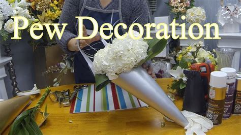 How to Make a Wedding Pew Decoration with Fresh or Silk