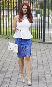 childs keeps it simple in peplum top and pencil skirt