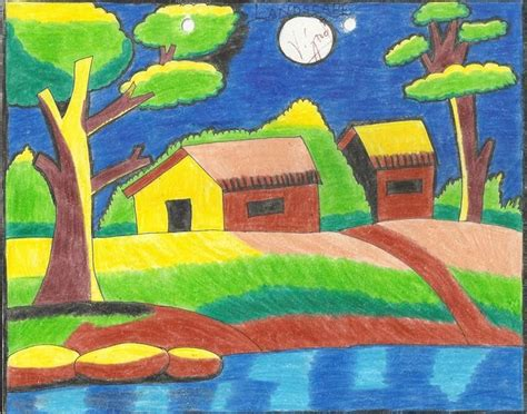 landscapes painting  children google search easy
