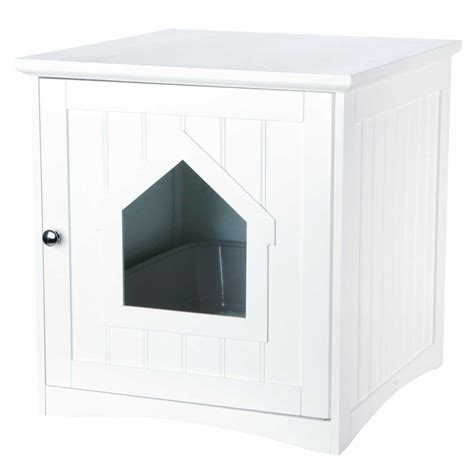 wooden cat toilet litterbox cabinet white catsplay