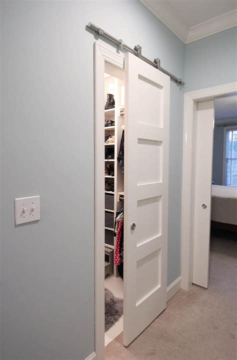 Build It Contemporary 4 Panel Barn Door For 50 How To Build A Closet Door