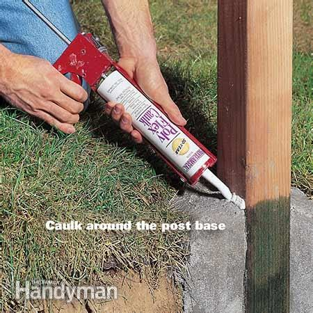 install l post concrete how to set fence posts that won t rot the family handyman