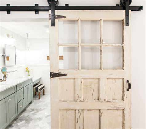 Barn Door To Bathroom Eclectic Home Tour Rafterhouse