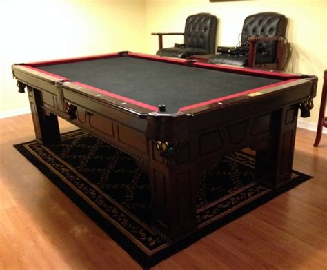 Fischer Pool Tables by Fischer Ailcante Mahogany Pool Billiards Table 8 W Cues