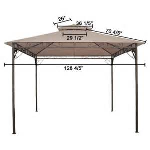 Gazebo Top Replacement 10x10 by 10x10 Ft Garden Gazebo Top Replacement Canopy Tan