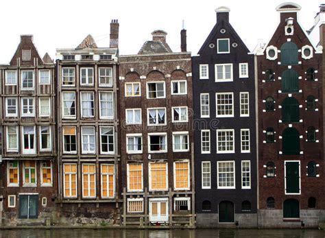 huis boot amsterdam de huizen van amsterdam stock afbeelding afbeelding
