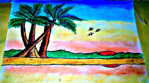 how to draw a sunset with colored pencils how to draw a sunset with colored pencils easy a