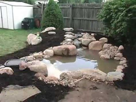 how to make a small pond in your backyard how to build a small pond 2 of 2 youtube