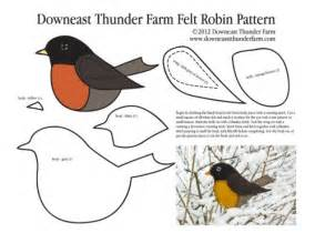 Bird Ornament Template by Longing For Felt Robin Ornament Downeast Thunder Farm