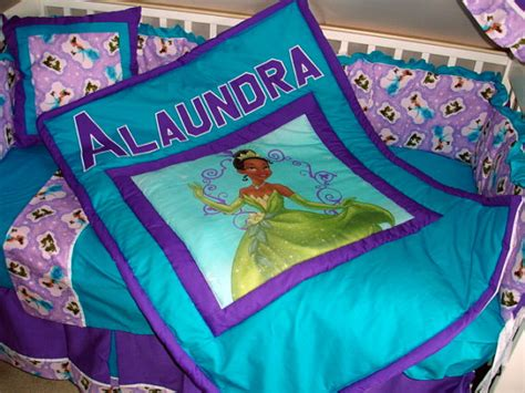 Princess The Frog Custom Made 8 Pc Or Made Bumperless Princess And The Frog Toddler Bed Set